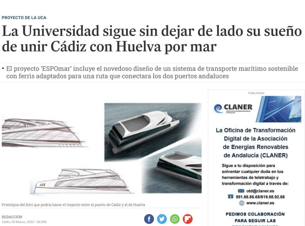 Noticia Diario de Cádiz, 30 de marzo